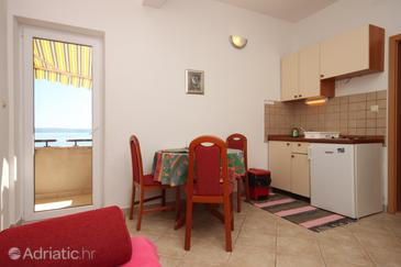 Podgora, Столовая в размещении типа apartment, Домашние животные допускаются и WiFi.