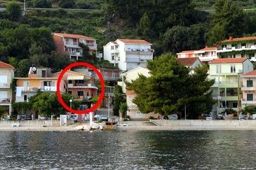 Podgora, Makarska, Objekt 6725 - Ubytování v blízkosti moře s oblázkovou pláží.