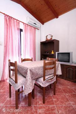 Sućuraj, Comedor in the apartment, air condition available, (pet friendly) y WiFi.