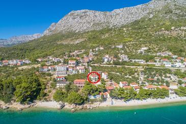 Podaca, Makarska, Obiekt 6735 - Apartamenty przy morzu ze żwirową plażą.