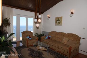 Brela, Living room in the apartment, dopusteni kucni ljubimci i WIFI.