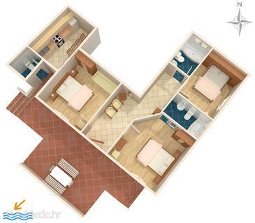Makarska, План в размещении типа apartment, WiFi.