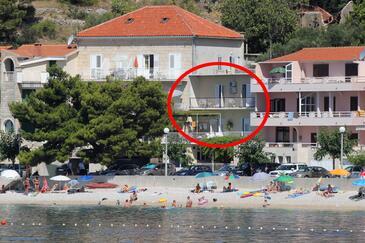 Podgora, Makarska, Objekt 6780 - Apartmani blizu mora sa šljunčanom plažom.