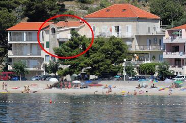 Podgora, Makarska, Objekt 6781 - Apartmaji v bližini morja s prodnato plažo.