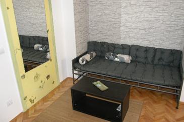 Makarska, Living room in the apartment, dopusteni kucni ljubimci.