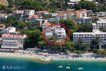 Podgora, Makarska, Property 6805 - Apartments near sea with pebble beach.