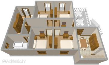 Bibinje, План в размещении типа apartment, WiFi.