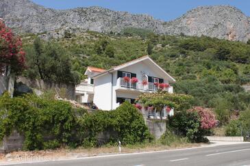 Brist, Makarska, Objekt 6813 - Ubytování v blízkosti moře s oblázkovou pláží.