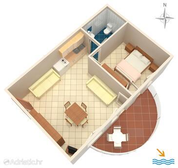 Rastići, План в размещении типа apartment, Домашние животные допускаются и WiFi.