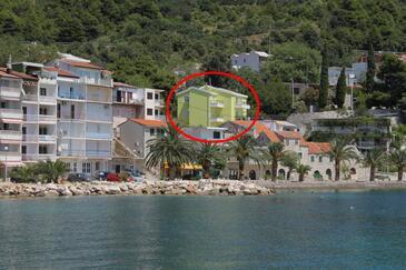 Živogošće - Porat, Makarska, Obiekt 6876 - Apartamenty przy morzu ze żwirową plażą.