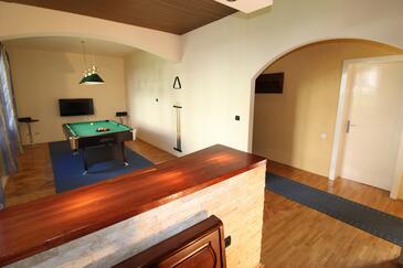 Makarska, Living room in the house, dostupna klima i WIFI.