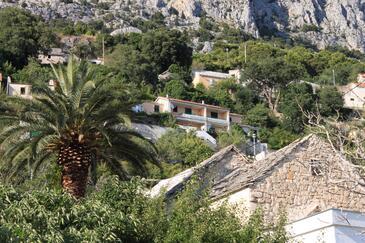 Brela, Makarska, Objekt 6884 - Ubytovanie s kamienkovou plážou.