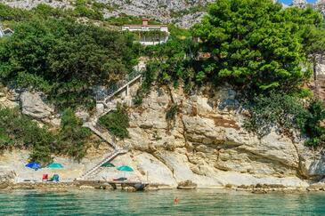 Pisak, Omiš, Property 6897 - Apartments near sea with rocky beach.