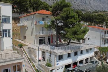 Baška Voda, Makarska, Objekt 6912 - Ubytovanie s kamienkovou plážou.