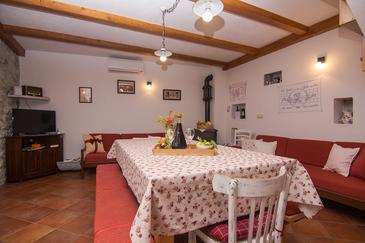Gornji Tučepi - Podpeć, Jedáleň v ubytovacej jednotke house, klimatizácia k dispozícii, domáci miláčikovia povolení a WiFi.