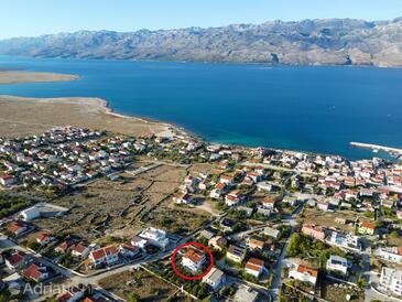 Ražanac, Zadar, Hébergement 6919 - Appartement avec une plage de galets.