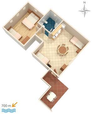 Umag, Plan dans l'hébergement en type apartment, animaux acceptés et WiFi.