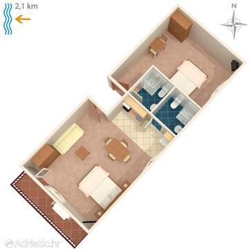 Poreč, Plan in the apartment.