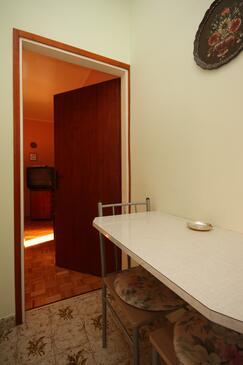 Umag, Salle à manger dans l'hébergement en type apartment, animaux acceptés et WiFi.