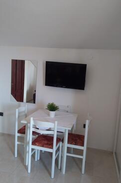 Ždrelac, Jadalnia w zakwaterowaniu typu apartment, dostupna klima, dopusteni kucni ljubimci i WIFI.