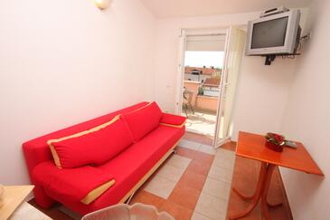 Novigrad, Living room in the apartment, dopusteni kucni ljubimci.