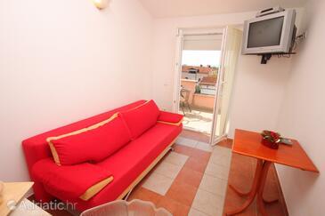 Novigrad, Living room in the apartment, dopusteni kucni ljubimci.