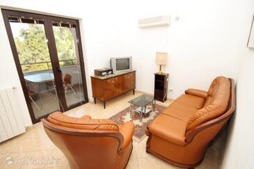Vabriga, Living room in the apartment, dostupna klima i WIFI.