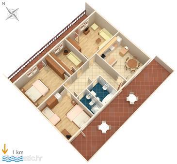 Pula, План в размещении типа apartment, WiFi.