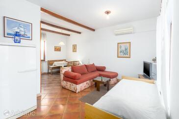 Umag, Гостиная в размещении типа apartment, dostupna klima i WIFI.