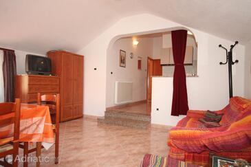 Zambratija, Salon dans l'hébergement en type apartment, WiFi.
