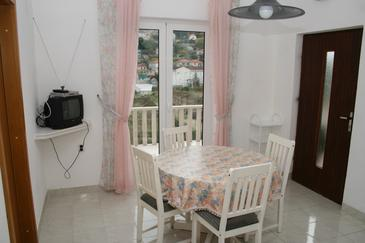 Postira, Jadalnia w zakwaterowaniu typu apartment, dostupna klima, dopusteni kucni ljubimci i WIFI.