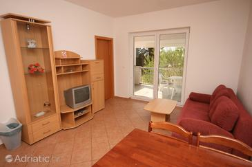Novigrad, Living room in the apartment, dopusteni kucni ljubimci i WIFI.