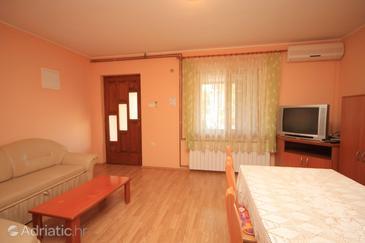 Vrsar, Living room in the apartment, dostupna klima, dopusteni kucni ljubimci i WIFI.