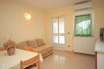 Tar, Living room in the apartment, air condition available and WiFi.