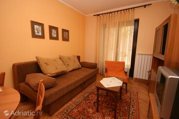 Umag, Living room in the apartment, dopusteni kucni ljubimci.