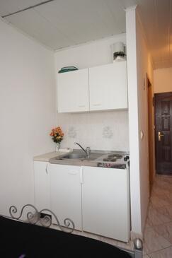 Novigrad, Kuchyně v ubytování typu studio-apartment, domácí mazlíčci povoleni a WiFi.