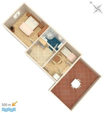 Zambratija, Plan in the apartment, WIFI.