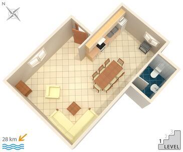 Motovun - Bataji, Načrt v nastanitvi vrste apartment, Hišni ljubljenčki dovoljeni in WiFi.