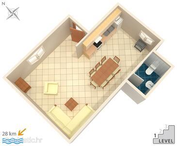 Motovun - Bataji, Schema nell'alloggi del tipo apartment, animali domestici ammessi e WiFi.