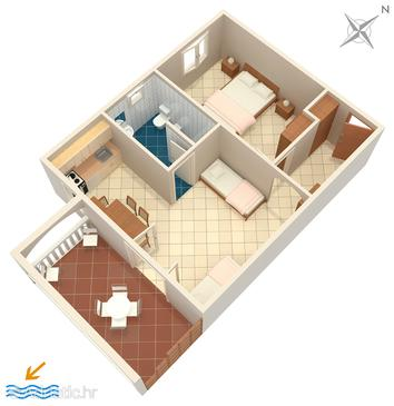Sumartin, План в размещении типа apartment, WiFi.
