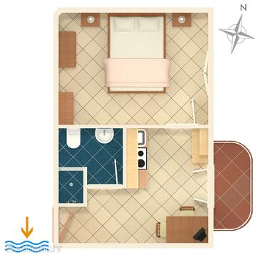 Sumartin one bedroom apartment near beach a 707 c for Apartment wifi plans