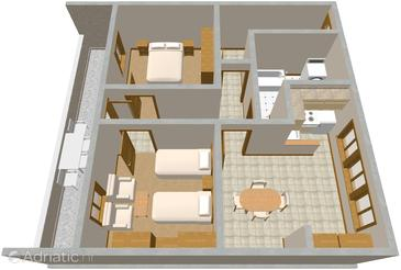 Povlja, План в размещении типа apartment, WiFi.