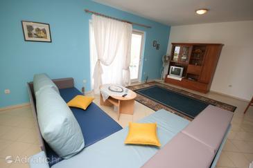 Stranići, Obývací pokoj v ubytování typu apartment, dostupna klima i WIFI.