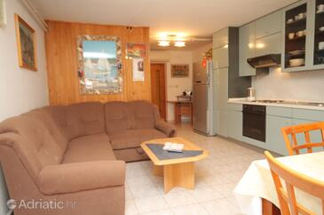 Novigrad, Living room in the apartment, (pet friendly) and WiFi.
