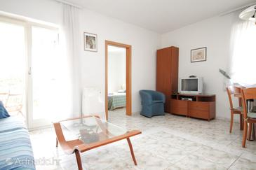 Rovinj, Living room in the apartment, dostupna klima i WIFI.