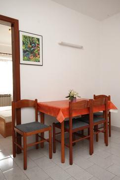 Umag, Jedáleň v ubytovacej jednotke apartment, dostupna klima, dopusteni kucni ljubimci i WIFI.
