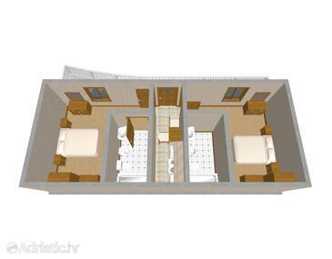 Povlja, Plan dans l'hébergement en type apartment, animaux acceptés et WiFi.