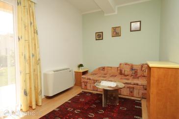 Buići, Living room in the apartment, dostupna klima i WIFI.