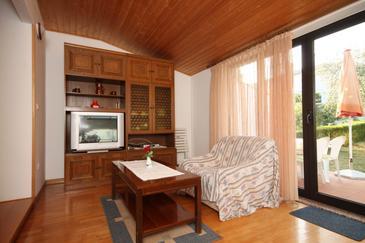 Umag, Obývacia izba v ubytovacej jednotke apartment, dopusteni kucni ljubimci.