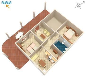 Umag, Půdorys v ubytování typu apartment, WIFI.